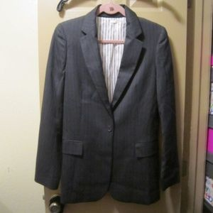 TART GRAY WITH WHITE PINSTRIPES BLAZER NWOT